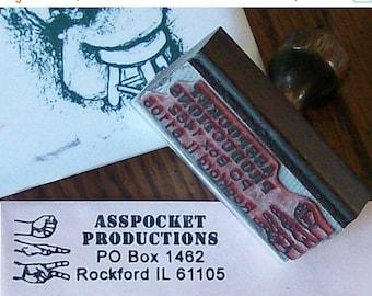 Super Summer Sale Rock Paper Scissors RPS Custom Return Address Rubber Stamp AD116