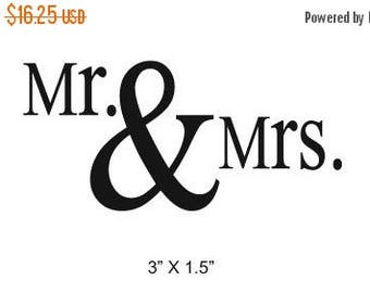 Xmas in July Mr and Mrs Wedding Anniversary Scrapbooking Rubber Stamp 096