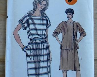 Very Easy Vogue sewing pattern/Misses dress blouse day dress/2 piece dress sewing pattern/uncut size 12 14 16/large vintage vogue pattern