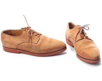 tamaño a 8 hombres ante Brogues para hombres de los años 80 ante Oxford ala oficina Smart Derby zapatos se desvaneció cuero Vintage hombres nos 8, EUR 41, Uk 7.5