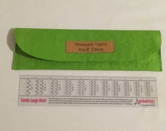Ann Budd gauge ruler case - with or without ruler