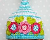 Blythe Mütze frischen Frühlingsblumen