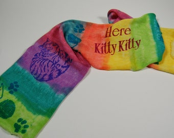 Single Knit Sock Blank- Here Kitty Kitty