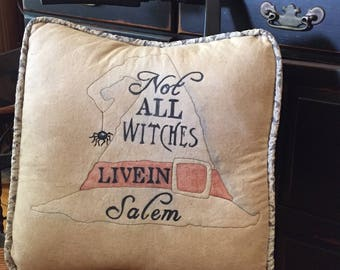 Not All Witches Pillow sewing patter, PDF