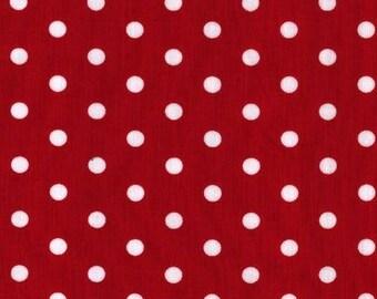 Robert Kaufman Pimatex dots in Red, yard