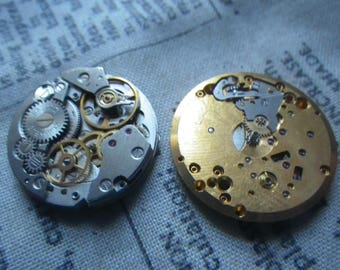 Watch Parts Lot 6 Two Awesome Watch Movements As Shown 2 Pcs