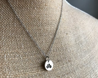 Bicycle Necklace - Hand Stamped