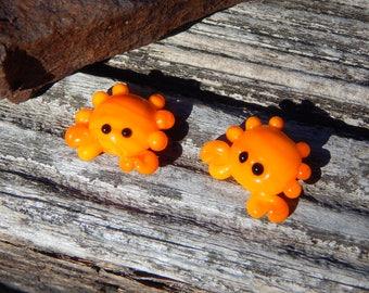 Crabby pair ,  Lampwork Bead Pair, Simply Lampwork by Nancy Gant, SRA G55