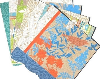 50% OFF - Summer Garden Blue - 6x6 DCWV Paper Pack