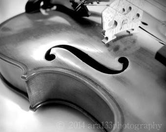 50% OFF SALE Music Art Violin Black and White Photography Print Large Wall Art Home Decor - 20x20 inch Fine Art Photography Print