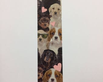 Bookmarks - duck duct tape - I love dogs