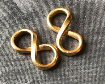 Vermeil Infinity Symbol Link Connector 15mm X 8mm