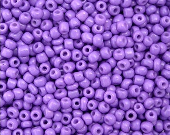 OPAQUE LILAC PURPLE Glass Seed Beads  8-0 Size 10 grams