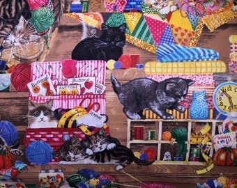 Whiskers and Tails by Robert Kaufman - 2 yards