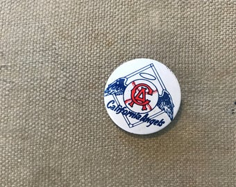 Vintage California Angels Pin Badge. Sports Collectible