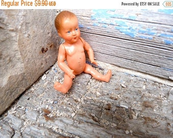 Reserverd  ON SALE Vintage Antique 1930/30s French celluloid doll /petitcolin doll/miniature/eagle size 7