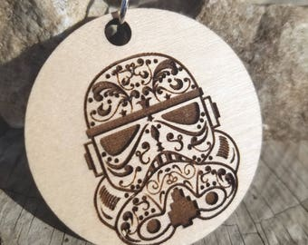 Sugar Skull Day of the Dead Trooper pendant Necklace