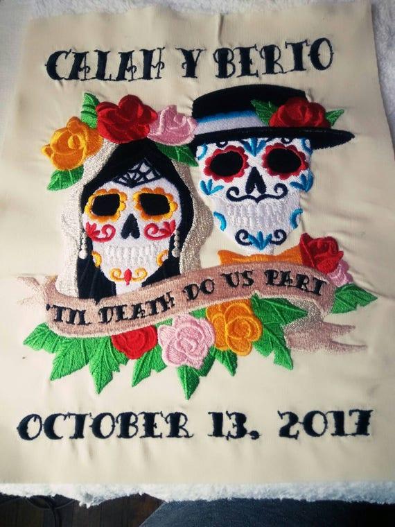 Wedding embroidery custom