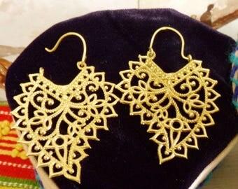 Vintage style Portuguese filigree dangle earrings