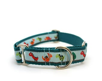 "1"" Dino Land buckle or martingale collar"