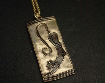 Cat Art Deco necklace