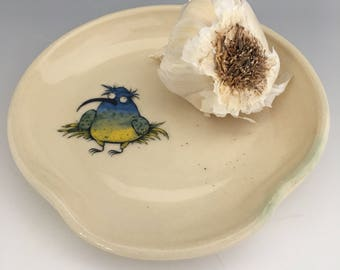 Funky Bird Spoon Rest, Trinket Dish, Ring Dish