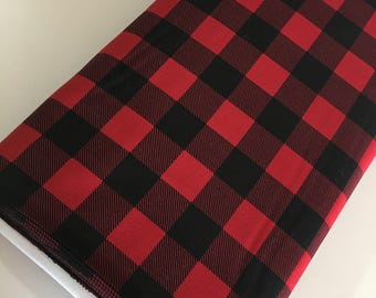 Buffalo Check fabric, Red Black Plaid, Buffalo Check Party Decor, Lumberjack, 1 inch Buffalo Plaid in Turquoise, Choose the Cut