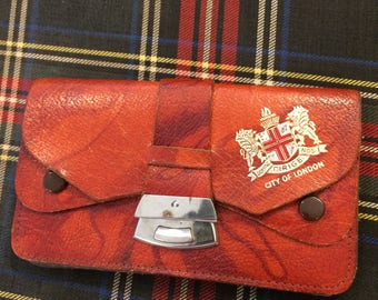 VINTAGE wallet...brown leather,country western,small wallet,made in England,London