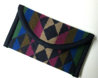 Wallet Clutch Bag Southwestern Print Wool from Pendleton Woolen Mills Magnetic Snap Closure