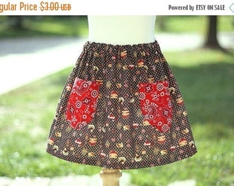 SALE Beginner Skirt Sewing Templateless Pattern Tutorial sizes 3m - 16 girls with pockets PDF Instant