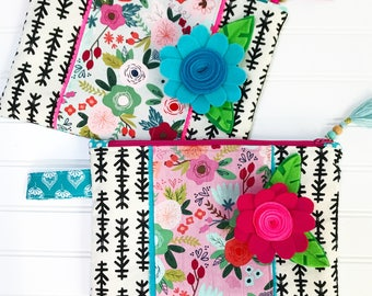 Pretty, Pretty -- Extra Large Zippered Pouch (you pick one)