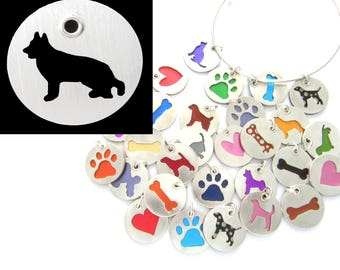 German Shepherd Sterling Silver Necklace Pendant Charm - Lots of Colors