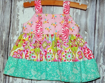 Going out of business SALE, girls knot dress ,size 0-3M girls dress, owl dress, Ready to ship