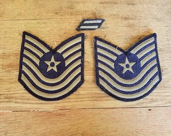 Three Vintage Air Force Master Sergeant  Military Chevrons