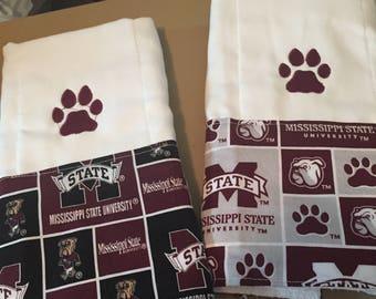mississippi state burp cloth set