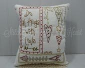 Do All Things With Love - Valentine's Decor - Happy Valentine's Day - Love - Decorative Valentine Pillow - Valentine Sayings