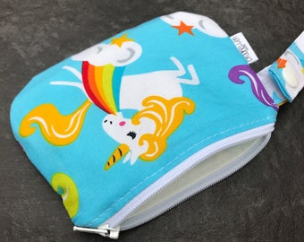 Waterproof Mouth Guard Case Roller Derby Unicorns Zipper Closure Made To order