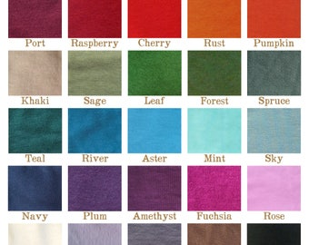 Yana Dee Fabric Color Samples - Compare and Contrast up to 5 Colors of each fabric type