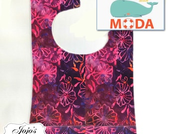 Tie Dye Baby Bib, Hot Pink Fuschia, Size: newborn to twelve months SKU #JJQS109