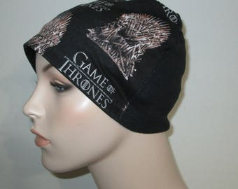 Game of Thrones  Lightweight  Hat -Chemo, Cancer, Alopecia, Sleep Cap, Child or Adult