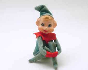 Vintage Christmas Decoration Pixie Kneehugger Elf Knee Hugger