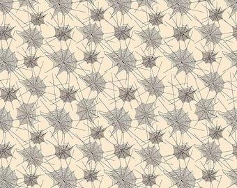 ON SALE Penny Rose Fabrics Trick or Treat Webs Cream