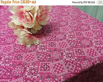 ON SALE BANDANA Tablecloth -Colors, Fuchsia Pink, Blue, Red, cowboy, cowgirl, rodeo, party, event, photo shoot, wedding, br