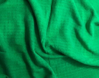 """Bright Kelly Green - Hand Dyed Checkered Weave Silk Noil - 18""""x27"""""""