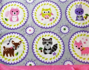Woodland Animals No-Sew Fleece Blanket