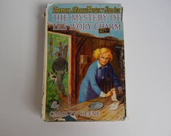 1936 #13 The Mystery of the Ivory Charm by Carolyn Keene / Hardcover with Dust Jacket / Nancy Drew Mystery Stories