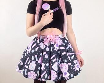 Nurse Bear Menhera Skirt SIZE X-SMALL, Nurse Skirt, Menhera Dress, Pill Skirt