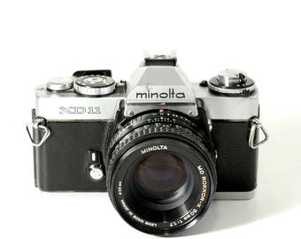 Minolta XD11 35mm Camera; MD ROKKOR 50mm 1.7 lens