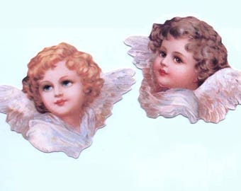 Set of 6 Die Cut Angel Tags or Scraps (3 of each design)