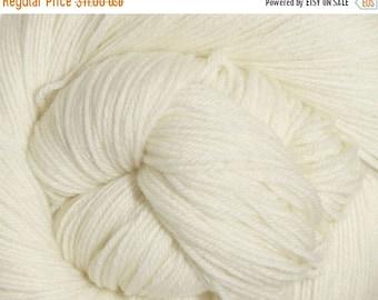 ON SALE Snow White Cascade Heritage Yarn 437 yards Super Fine Wool Nylon Sock Yarn Color 5618